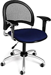 OFM 336-AA3-2203 Moon Swivel Chair with Arms, Navy