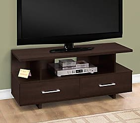 Monarch Specialties TV Stand, Cappuccino, I 2606