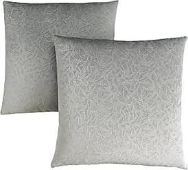 Monarch Specialties Decorative Throw Pillow, Floral Velvet, Grey, 2pcs