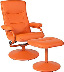 Flash Furniture BT-70621-ORG-GG Vinyl Recliners, Orange