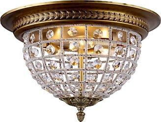 Elegant Furniture & Lighting Elegant Lighting Olivia 1205 Flush Mount Light, Size: 12 in. - 1205F12DB/RC