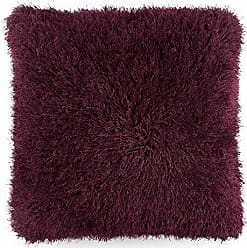 Trademark Global Lavish Home Oversized Floor or Throw Pillow Square Luxury Plush- Shag Faux Fur Glam Decor Cushion for Bedroom Living Room or Dorm (Burgundy)
