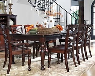 Ashley Furniture Porter Dining Room Extension Table, Rustic Brown