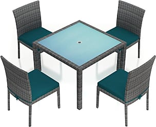 Harmonia Living Outdoor Harmonia Living District 5 Piece Patio Dining Set - HL-DIS-TS-5DS-PC