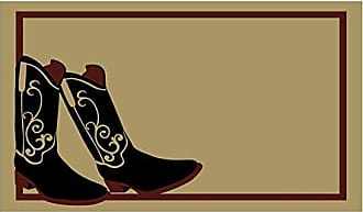 Geo Crafts Vinyl Back Cowboy Boots Doormat