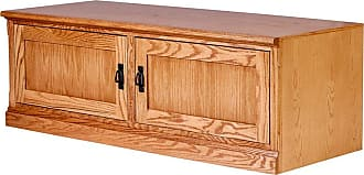 Forest Designs Mission TV Cart with Door Pulls Unfinished Alder, Size: 43 in. - 4113- MG-43W-UA