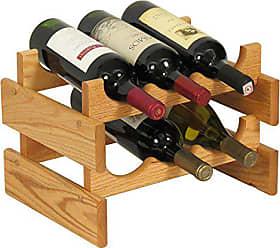 Wooden Mallet 6 Bottle Dakota Wine Rack, Light Oak