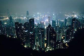 Noir Gallery Hong Kong Victoria Peak Night View Canvas Wall Art - HK-06-TW-08