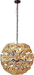 Maxim Lighting ET2 E22094-26 Fiori 20-Light Single Pendant, Bronze Finish, Amber Murano Glass, G9 Xenon Bulb, 1.5W Max., Dry Safety Rated, 2900K Color Temp., Low-Voltage Electronic Dimmer, Glass Shade Material, 2250 Rated Lumens
