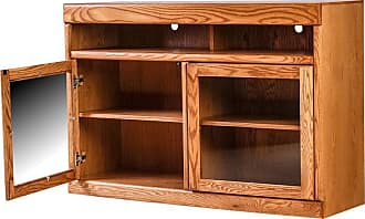 Forest Designs Bullnose TV Cart with Glass Doors Unfinished Alder, Size: 33 in. - 4624- BG-33W-UA