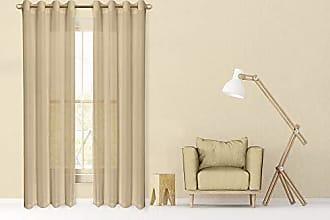 Dainty Home Malibu Linen Look Sheer Grommet Window Panel, 110 by 84-Inch, Beige