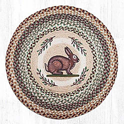 Earth Rugs 66-413VR Round Rug, 27x27, Brown