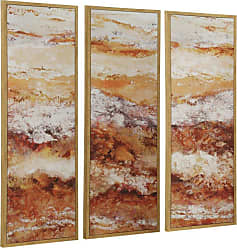 StyleCraft Amber Framed Wall Art - Set of 3 - WI532251DS
