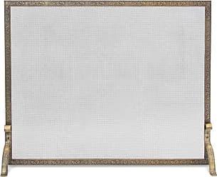 Pilgrim Home & Hearth Bay Branch Embossed Single Panel Fireplace Screen