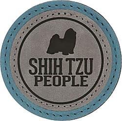 Pavilion Gift Company 67637 2.5 Inch Round Dog Refrigerator Magnet Shih Tzu People Green