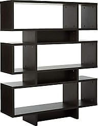 Wholesale Interiors Baxton Studio Cassidy 6-Level Modern Bookshelf, Dark Brown