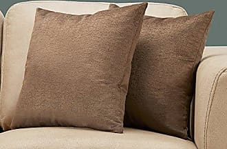 Monarch Specialties Mosaic Velvet Decorative Throw Pillow, 18x 18, Brown