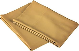 Home City Inc. 100% Rayon from Bamboo, Extremely Comfortable, Softer Than Cotton, 2 Piece King Pillowcase Set, Solid Gold