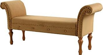 Jennifer Taylor Home 9605-959 Elise Roll Arm Entryway Bench, New Gold