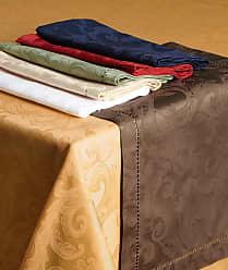 SFERRA Plume Jacquard 90 Round Tablecloth
