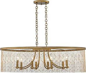 Golden Lighting 1771-LP CRY Marilyn 8 Light 38 Wide Taper Candle