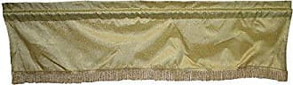 Violet Linen Monte Carlo Tafetta Nittle Mesh Lace Window Valance, 60 x 15, Gold