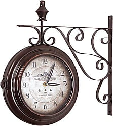 Yosemite Home Decor Yosemite Home Decor Double Sided Iron Wall Clock, Multi