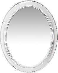 Infinity Instruments Rustic Oval Wall Mirror, White