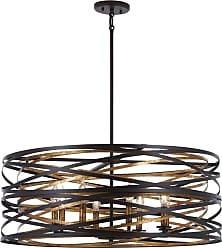 Minka Lavery Vortic Flow Pendant in Dark Bronze W/Mosaic Gold Inte