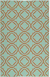Kaleen Rugs Brisa Collection BRI07-89B Orange Handmade 8 x 10 Rug