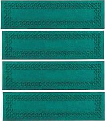 Bungalow Flooring Waterhog Cable Weave Stair Tread Mats, Set of 4