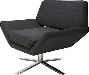 NUEVO Sly Swivel Lounge Chair Dark Grey - HGDJ742
