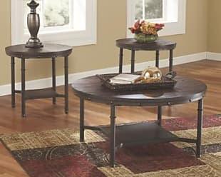 Ashley Furniture Sandling Table (Set of 3), Rustic Brown
