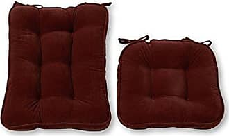 Greendale Home Fashions Standard Rocking Chair Cushion Hyatt fabric, Burgundy