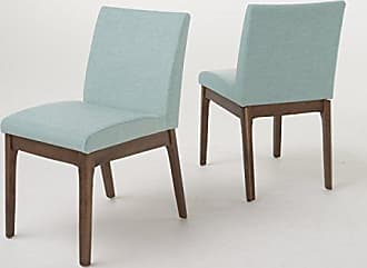 Christopher Knight Home 298986 Kwame Fabric Dining Chair (Set of 2), Mint