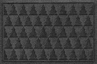Bungalow Flooring AquaShield Pine Trees Mat, 2 x 3, Charcoal