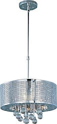 Maxim Lighting ET2 Lighting E24386-91PC Pendant with Bubble Detailed Glass Shades, Polished Chrome Finish