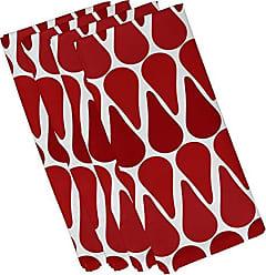 E by Design E by design N4G791RE1 Watermelon Seeds, Geometric Print Napkin 19 x 19 Red