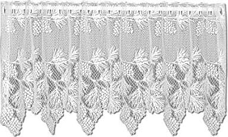Heritage Lace Woodland 60-Inch Wide by 24-Inch Drop Tier, White