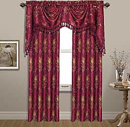 United Curtain Jewel Woven Window Panel, 54 by 84, Burgundy, 54 X 84