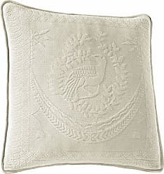 Ellery Homestyles Historic Charleston 13995020X020IVY King Charles Matelasse 20-Inch by 20-Inch Decorative Pillow, Ivory