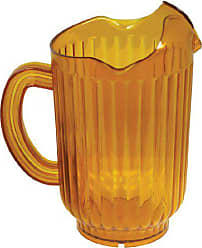 Winco USA Winco Polycarbonate Water Pitcher with 3 Spouts, 60-Ounce, Amber