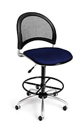 OFM 336-DK-2203 Moon Swivel Chair with Drafting Kit, Navy