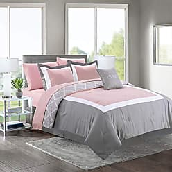 Sweet Home Collection Comforter 8 Piece Decorative Printed Soft and Luxurious Bedding with Sheet Set, Shams, and Decorative Pillow, Queen, Gardian-Blush