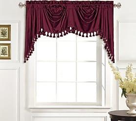 United Curtain 100-Percent Dupioni Silk Austrian Valance, 108 by 30-Inch, Burgundy