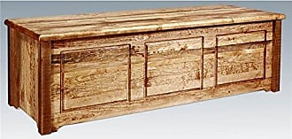 Montana Woodworks MWHCSBCSSL Homestead Collection Small Blanket Chest, Stain & Lacquer Finish