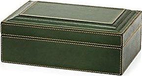 Zodax Leather Decorative Box, Green
