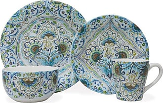 222 Fifth Aisha Blue 16 Piece Dinnerware Set - 3028BL803A1G98