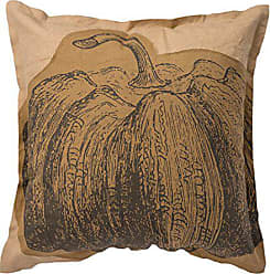 Primitives By Kathy Double-Sided Pumpkin Cotton Throw Pillow, 18-Inch Square