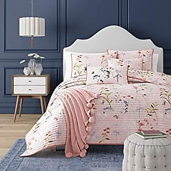 Five Queens Court Blakely Floral Quilt Coverlet, Rose, King 108x94